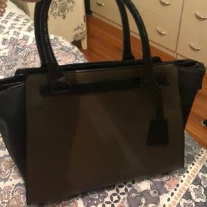 Aldo Green and black bag with zipper and strap
